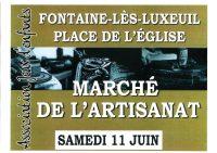 Affiche marché artisanat